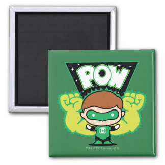 Chibi Green Lantern Forming Giant Fists Square Magnet