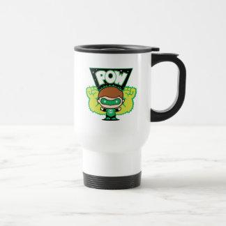 Chibi Green Lantern Forming Giant Fists Travel Mug