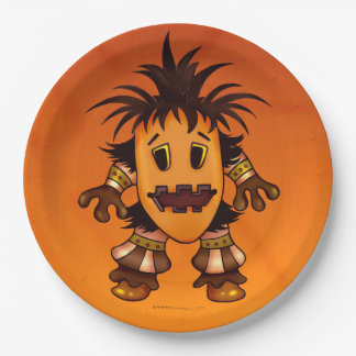 CHIBI  HALLOWEEN PAPER PLATE 9 inches MONSTER 9 Inch Paper Plate