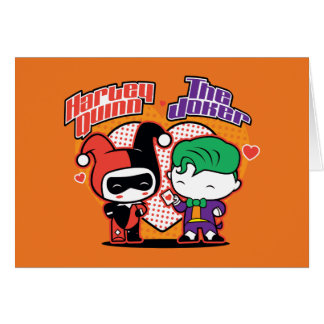 Chibi Harley Quinn & Chibi Joker Hearts Card