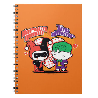 Chibi Harley Quinn & Chibi Joker Hearts Spiral Notebook