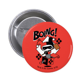 Chibi Harley-Quinn-In-A-Box With Hammer 6 Cm Round Badge