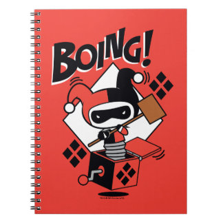 Chibi Harley-Quinn-In-A-Box With Hammer Notebooks