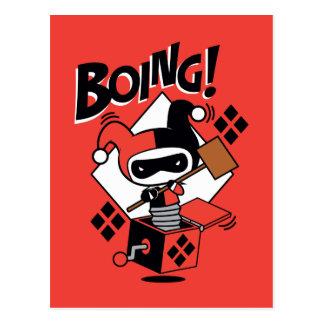 Chibi Harley-Quinn-In-A-Box With Hammer Postcard