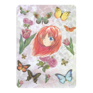 "Chibi Harumi Beautiful Spring Invitation Cards 5"" X 7"" Invitation Card"