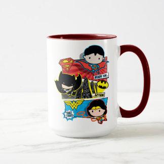 Chibi Heroes Ready For Action! Mug