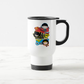 Chibi Heroes Ready For Action! Travel Mug