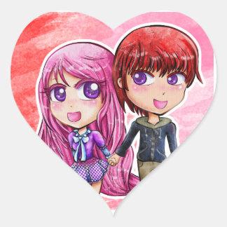 Chibi Jemma and Adam - Unbreakable Heart Sticker