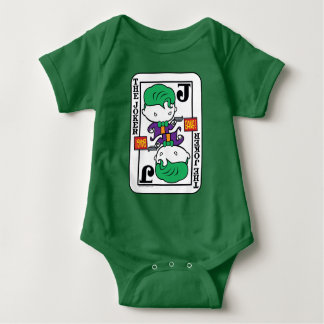 Chibi Joker Playing Card Baby Bodysuit