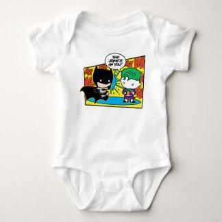 Chibi Joker Pranking Chibi Batman Baby Bodysuit
