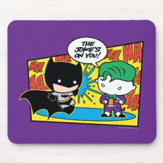 Chibi Joker Pranking Chibi Batman Mouse Mat