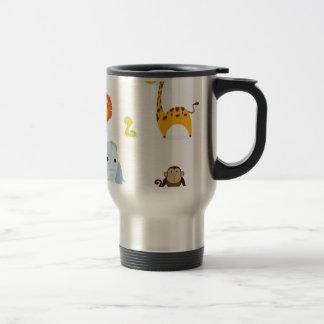 Chibi Jungle Animals design Stainless Steel Travel Mug