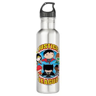 Chibi Justice League Group 710 Ml Water Bottle