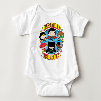 Chibi Justice League Group Baby Bodysuit