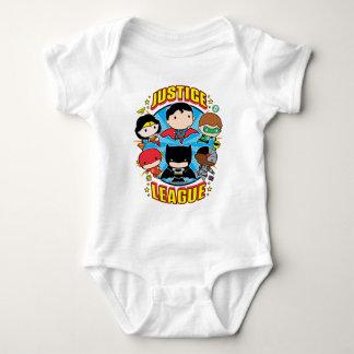 Chibi Justice League Group Baby Bodysuit