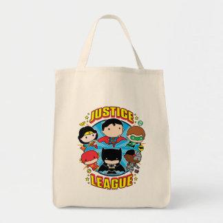 Chibi Justice League Group Tote Bag