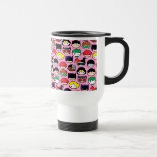 Chibi Justice League Head Pattern Travel Mug
