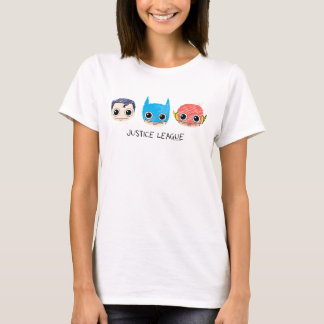 Chibi Justice League Heads Sketch T-Shirt