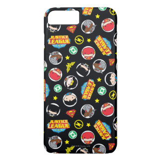 Chibi Justice League Heroes and Logos Pattern iPhone 7 Plus Case