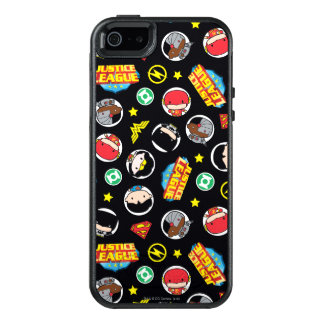 Chibi Justice League Heroes and Logos Pattern OtterBox iPhone 5/5s/SE Case