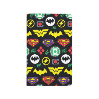 Chibi Justice League Logo Pattern Journal