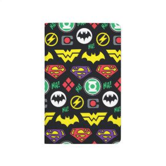 Chibi Justice League Logo Pattern Journals