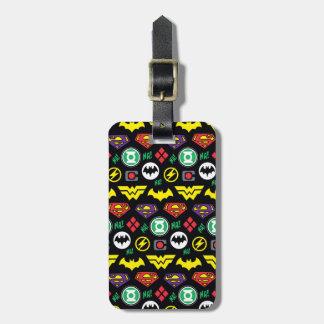 Chibi Justice League Logo Pattern Luggage Tag