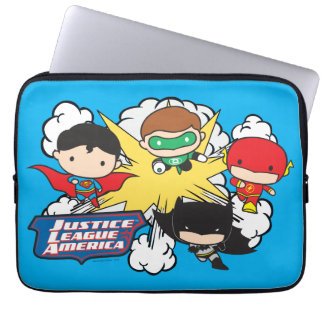 Chibi Justice League of America Explosion Laptop Sleeve