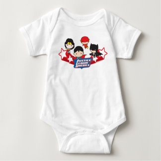 Chibi Justice League of America Stars Baby Bodysuit