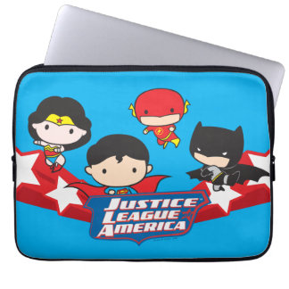 Chibi Justice League of America Stars Laptop Sleeve