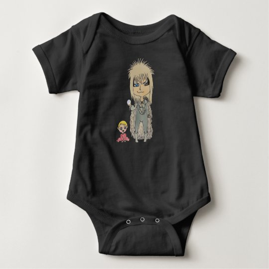Chibi kawaii labyrinth goblin king and Baby Baby