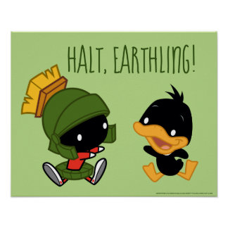Chibi MARVIN THE MARTIAN™ & DAFFY DUCK™ Poster