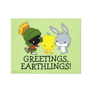 Chibi MARVIN THE MARTIAN™, TWEETY™, & BUGS BUNNY™ Canvas Print