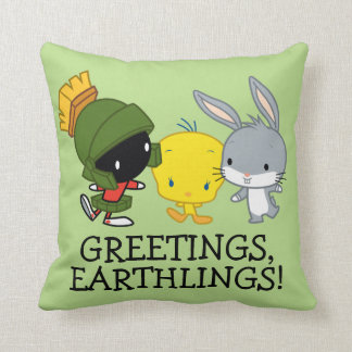 Chibi MARVIN THE MARTIAN™, TWEETY™, & BUGS BUNNY™ Cushion