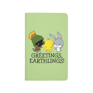 Chibi MARVIN THE MARTIAN™, TWEETY™, & BUGS BUNNY™ Journal
