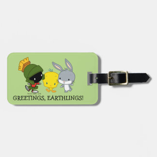Chibi MARVIN THE MARTIAN™, TWEETY™, & BUGS BUNNY™ Luggage Tag