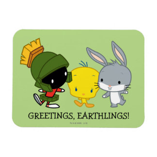 Chibi MARVIN THE MARTIAN™, TWEETY™, & BUGS BUNNY™ Magnet