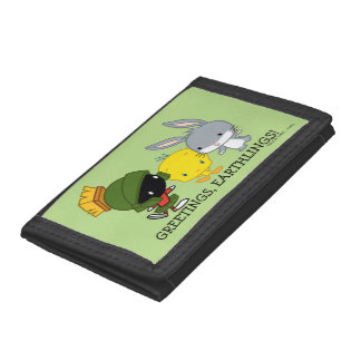 Chibi MARVIN THE MARTIAN™, TWEETY™, & BUGS BUNNY™ Trifold Wallet