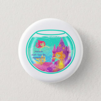 Chibi Mermaids in a fishbowl 3 Cm Round Badge