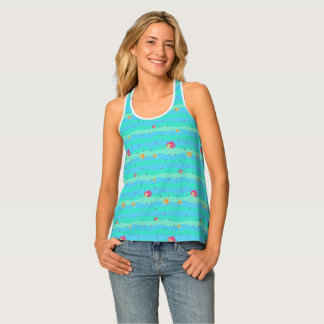 Chibi Mermaids & Seahorses all-over-print-tank-top Tank Top