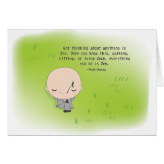 Chibi Monk Card