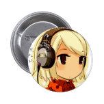 chibi music 6 cm round badge