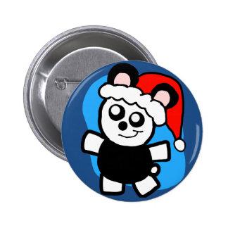 Chibi Panda Santa button