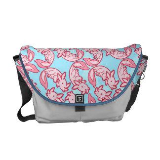 Chibi pink Axolotl pattern Chido Commuter Bags