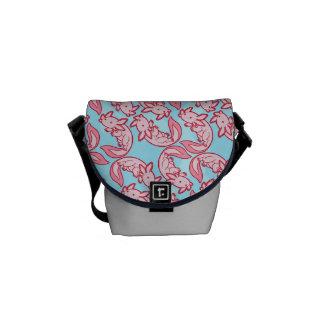 Chibi pink Axolotl pattern Chido Courier Bags