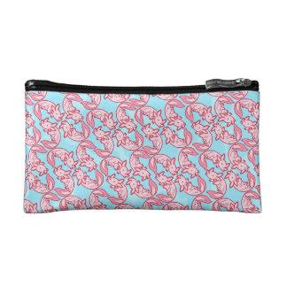 Chibi pink Axolotl pattern Chido Makeup Bags