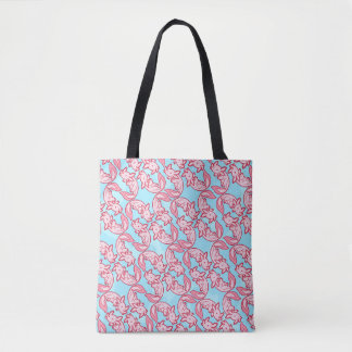 Chibi pink Axolotl pattern Chido Tote Bag