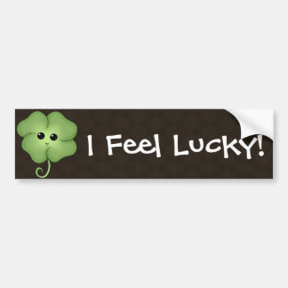 Chibi Saint Patrick's Day Clover Bumper Sticker