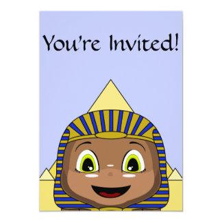 Chibi Sphinx With Pyramids 13 Cm X 18 Cm Invitation Card