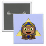 Chibi Sphinx With Pyramids Button